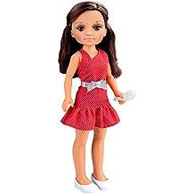 Nancy - Un día con Amigas, muñeca morena con vestido rojo (Famosa 700013444)