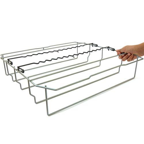 DomoSense Glashalter/Korbeinsatz für Langstielgläser f. Siemens, Bosch, Neff, Gaggenau, Balay oder Constructa Geschirrspüler (Macht aus Ihrem Spülmaschinen-Unterkorb einen universellen Gläserkorb)