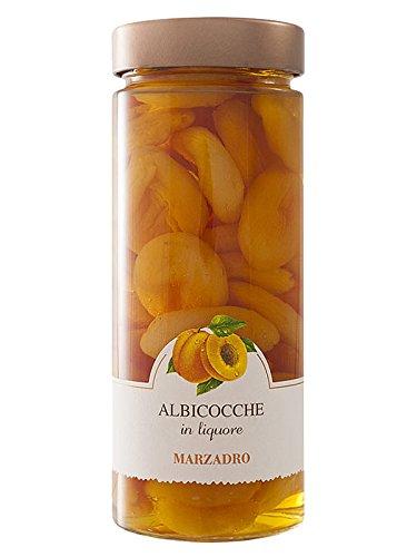 Marzadro Vaso Frutta Albicocche - Aprikosen Likör 0,35 Liter mit Früchten - Aprikosen-likör