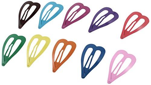 Sourcingmap Lot de 10 barrettes métalliques en forme de cœur pour cheveux Coloré