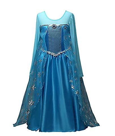 D'amelie Eiskönigin Prinzessin Kostüm Kinder Glanz Kleid Mädchen Weihnachten Verkleidung