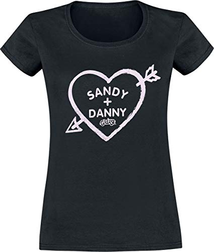 Grease Sandy and Danny Heart T-Shirt schwarz XXL