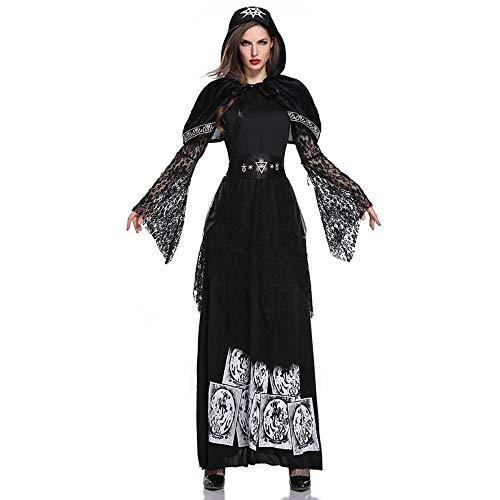 Reaper Für Erwachsene Braut Kostüm - Shisky Cosplay kostüm Damen, Vampir Kostüm Halloween Gespenst Braut Hexe Prinzessin Kleid Zombie Outfit