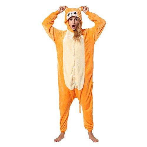 Katara 1744 -Affe Kostüm-Anzug Onesie/Jumpsuit Einteiler Body für Erwachsene Damen Herren als Pyjama oder Schlafanzug Unisex - viele verschiedene Tiere (Pavian Maske)