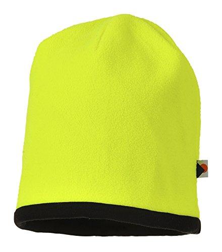 Portwest Workwear Reversible Hi-Vis Beanie Hat - HA14 - EU / UK Gelb / Schwarz