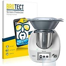 2x BROTECT Protector Pantalla Vorwerk Thermomix TM5 Película Protectora – Transparente, Anti-Huellas