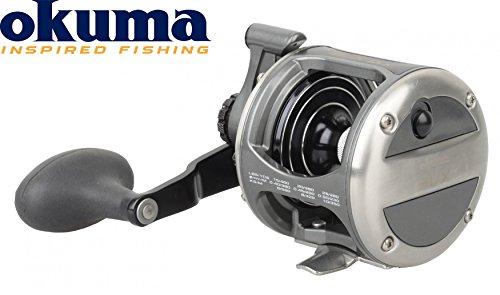 OKUMA LX-10LX Levelwind Left Hand Multirolle, Angelrolle zum Meeresangeln, Meersrolle, Schnurfassung 380m 0,40mm