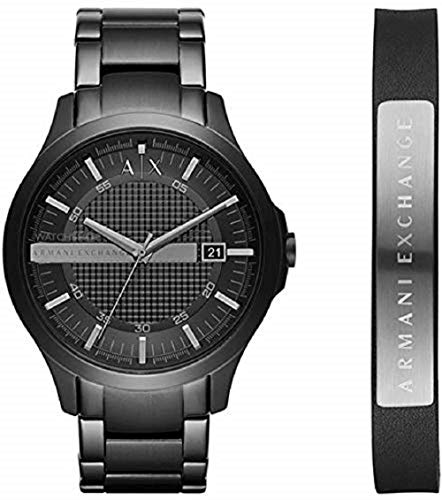 Armani Exchange Herren Analog Quarz Uhr mit Edelstahl Armband AX7101