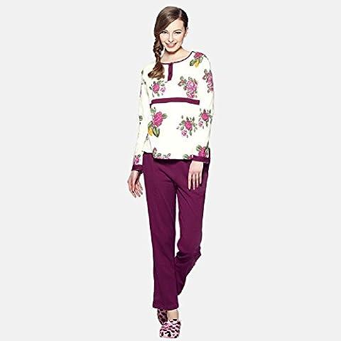 DMMSS Cotone pigiama lungo donna - manica vestito pigiama di