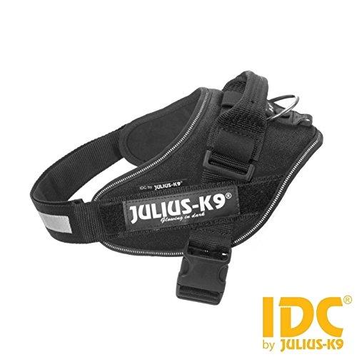 Pettorina Julius-K9 IDC Powerharness Black Tg. 0 - Resistente pettorina nera, regolabile in nylon, per cani