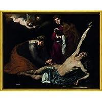 Berkin Arts Framed Jusepe De Ribera Giclee Lienzo Impresión Pintura Póster Reproducción Print(San Sebastián
