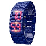 HLIYY- New Iron Samurai Metal Bracelet Lava Watch LED Digital Watches Hour Men Women...