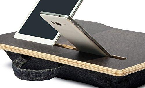 mymesita® mypad, Denim, Tavolo Portatile, Tavolo per PC, supporto PC portatile, denim cuscino.