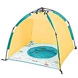 Ludi | 90015 | Piscine et tente anti-UV de plage ouverture minute | Protège du vent,...