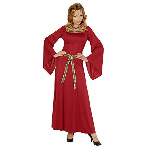 Widmann 03131 ? Adulte Costume de courtisane, Robe, Rouge