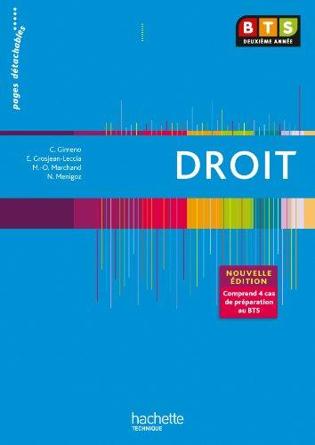 EN SITUATION DROIT BTS 2e ANNEE - Livre élève - Ed. 2013 par Corinne Gimeno