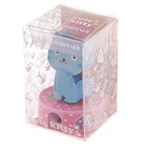 Spitzer und Radiergummi Katze - Farbe nicht wählbar