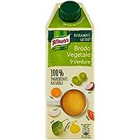 Knorr Brodo Liquido Vegetale 100% Ingredienti Naturali, 750 ml - Pacco da 6 x 125 ml - Totale: 750 ml