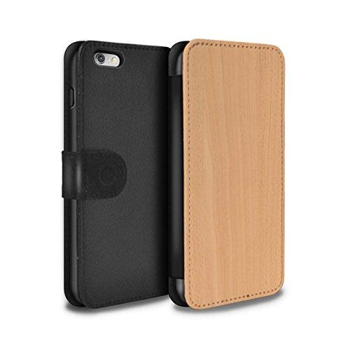 Stuff4 Coque/Etui/Housse Cuir PU Case/Cover pour Apple iPhone 4/4S / Boisflotté Design / Motif Grain de Bois Collection Hêtre