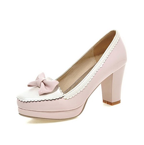 allhqfashion-womens-high-heels-pull-on-patent-leather-round-closed-toe-pumps-shoes-pink-40