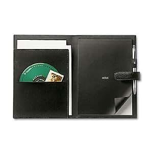 Addex Design - conférencier pvc intérieur façon nubuck noir intérieur noir - 17 x 23 cm