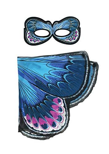 Dreamy Dress-Ups 66520 Mask + Wings, Flügel + Maske, Karner Blue Butterfly, Schmetterling Lycaeides melissa (Blue Wings Kostüm)