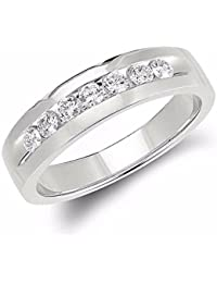 Bittu Fashion Silver Plated Silver Round Diamond Ring For Girls & Women Free Size
