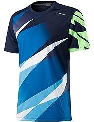 Head - Camiseta para hombre, diseño de gráfico visual, hombre, color azul marino, tamaño XL