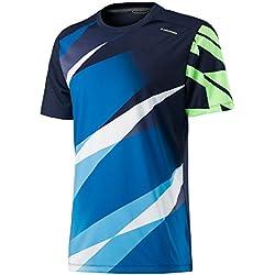 Visión de la cabeza hombres gráfico camiseta, hombre, color azul marino, tamaño large