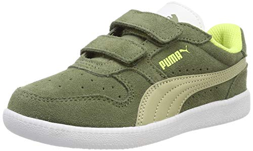 Puma Unisex-Kinder Icra Trainer SD V PS Sneaker Grün (Olivine-Elm White-Blazing Yellow), 33 ()