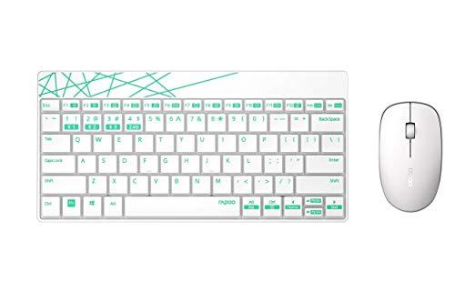 Rapoo 8000M drahtloses, optisches Multi-Mode-Deskset (Tastatur und