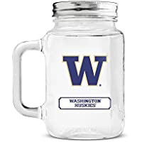 Duck House NCAA Washington Huskies Mason Jar, 20-ounce