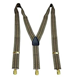 Navaksha Golden Graphical Y- Back Adjustable Suspender For Men