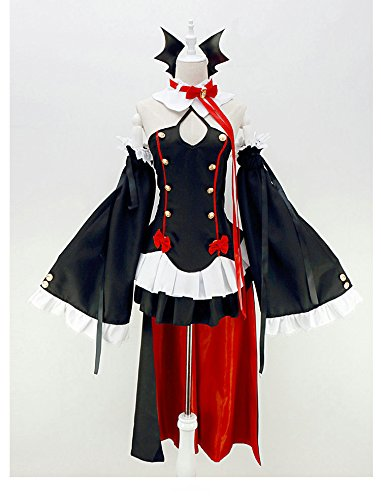 Anime Seraph of the End cosplay Vampires Krul Tepes Uniform Cosplay Kostüm ,Mailen Sie uns Ihre Größe,Größe S:(150-160 (Tepes Krul Kostüm)