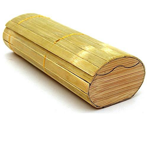 Sonnenbrillen-Aufbewahrungsbox Einfache handgemachte natürliche Bambus Sonnenbrille Fall Umwelt Zylinder Sonnenbrille Box für Holz Bambus Sonnenbrille Gläser Aufbewahrungsbox Für Brillenschmuck und Uh
