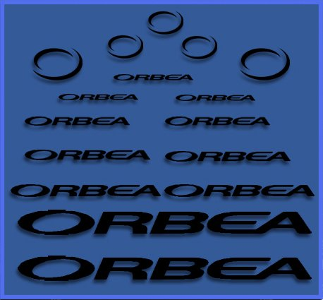 Ecoshirt NX-CJOR-VI3A Pegatinas Orbea Dr04 Vinilo