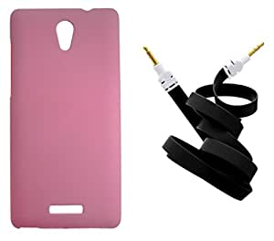 XUWAP Hard Case Cover With Aux Cable For Gionee Marathon M4 - Pink