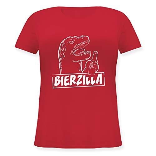 Shirtracer Halloween - Bierzilla - S (44) - Rot - JHK601 - Lockeres Damen-Shirt in großen Größen mit Rundhalsausschnitt