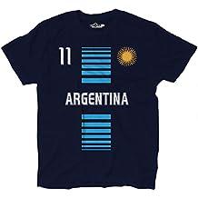 Camiseta T-shirt hombre nacional Argentina Argentine 11 Sole futbol 2 S