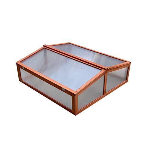 Gardiun KNH1205 Gewächshaus Holz/Polycarbonat Wooden II Maße 82 x 90 x 32 cm