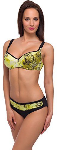 Merry Style Damen Bikini Modell: CWL 11/W Schwarz/Gelb