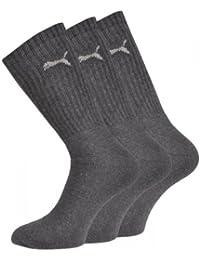 Puma - Calcetines de deporte para hombre, talla 47-49, color antracita