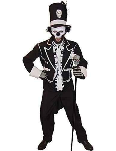 Baron Samedi Voodoo Kostüm Halloween Mottoparty Verkleidung Herren Extra Large