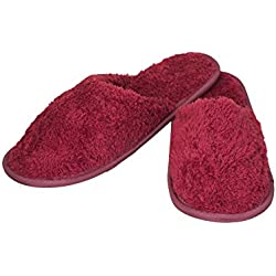 Old Cobbler Unisex Maroon Fur Flip- Flops & House Slippers(Free Size)