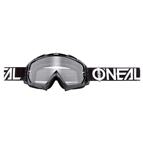 O'Neal B-10 Goggle Pixel Crossbrille Klar Motocross DH Downhill MX Anti-Fog Glas, 6024-30, Farbe schwarz