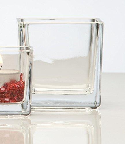 Glasvase Cube klar eckig 8 cm Ø 8,0 x 8,0 cm von Sandra Rich