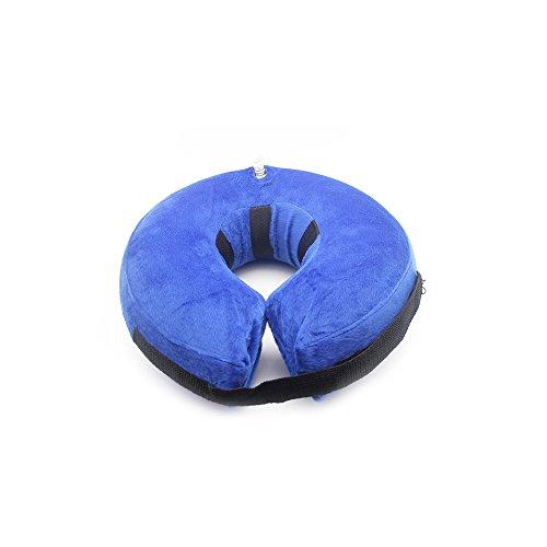PET SPPTIES aufblasbar Halsband für Haustier Hund Katze bequem weich Recovery Schwimmen Schutz-mit Magic Reißverschluss für Haustier Hund Nackenschutz Kissen PS005 (S)