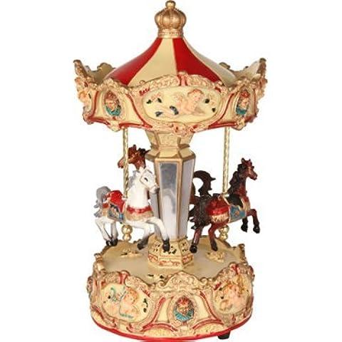 Madelcar - Carillon CAROSELLO, rosso/bianco, diam.: 12 cm, alt.: 25 cm 15839MD