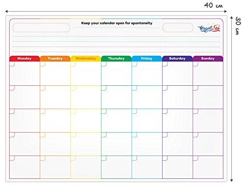 Calendario magn tico pizarra magn tica para nevera planificador mensual pizarra de - Pizarra calendario ...