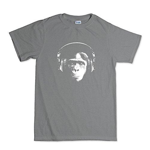 Ape DJ Headphones T-shirt Dunkelgrau